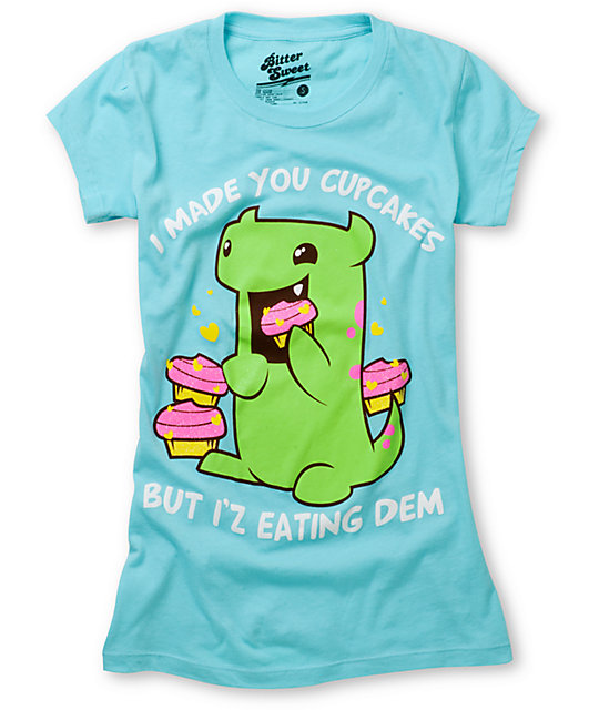 Bitter Sweet Eating Dem Teal T-Shirt