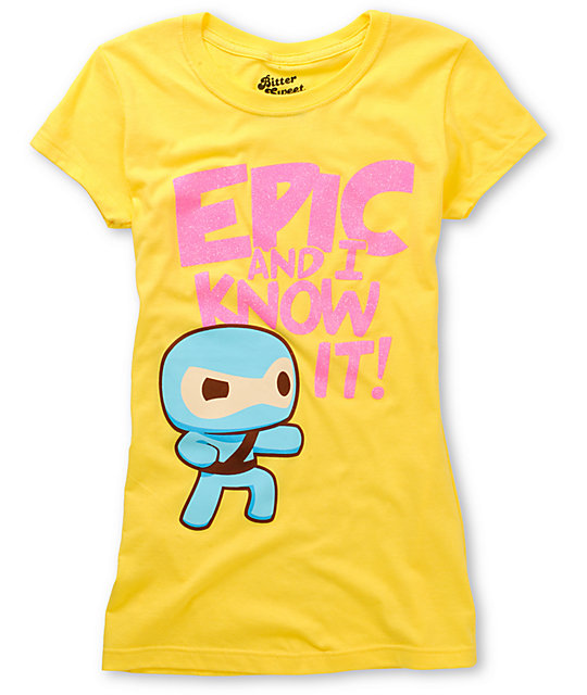 Bitter Sweet Epic Ninja Yellow T-Shirt