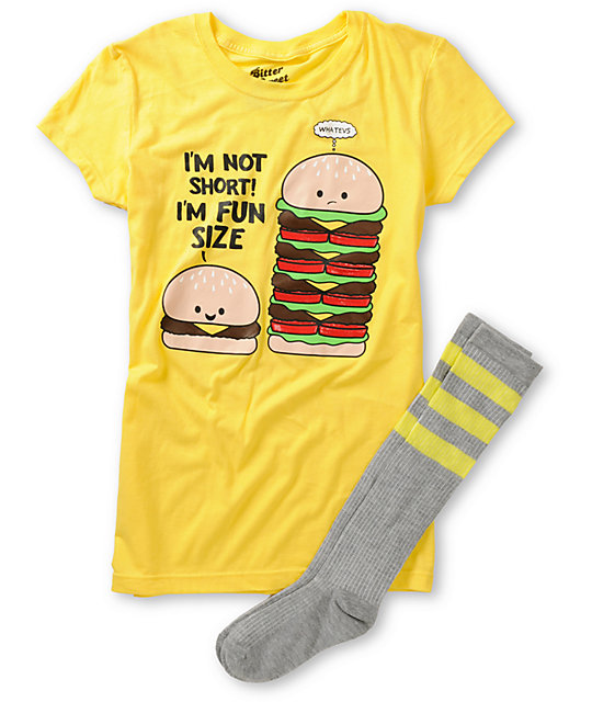 Bitter Sweet Fun Burger Graphic T-Shirt & Socks Pack