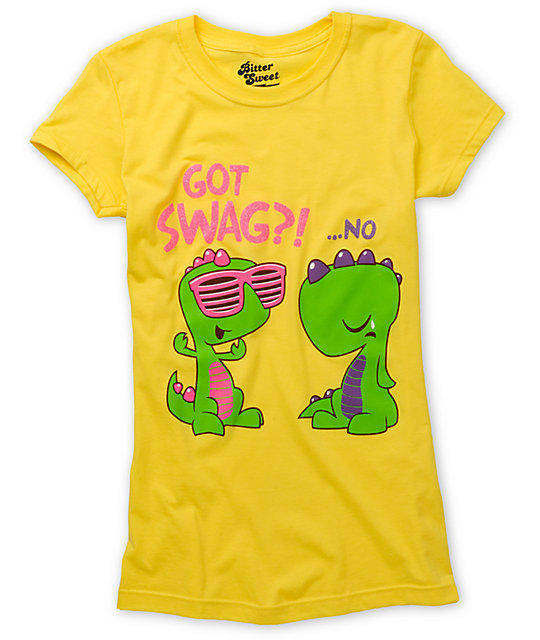 Bitter Sweet Got Swag Yellow T-Shirt