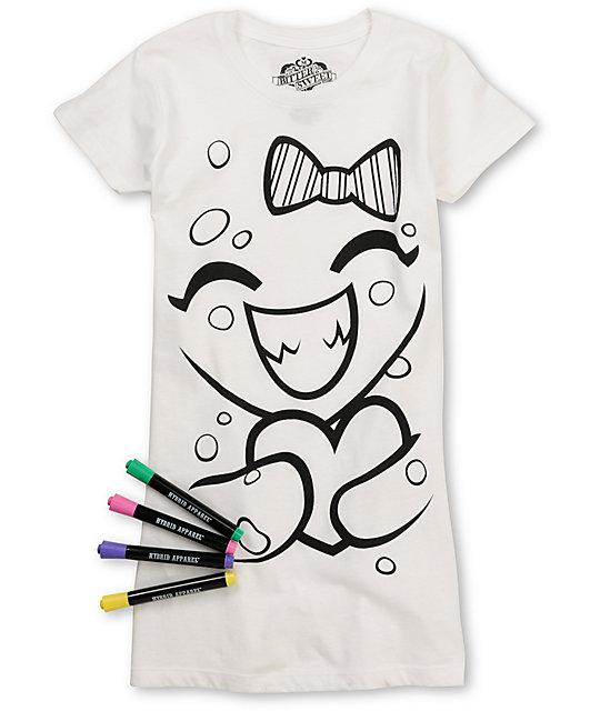 Bitter Sweet Heart Hug Coloring T-Shirt