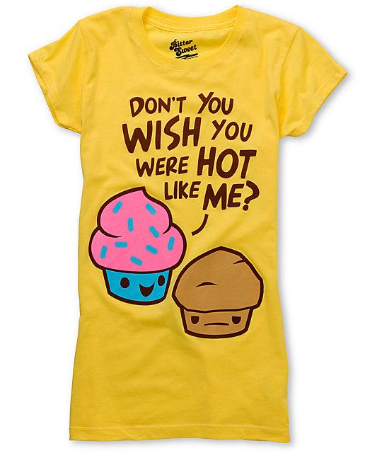 Bitter sweet hot cake yellow scratch n sniff t shirt zumiez for T shirt cake decoration