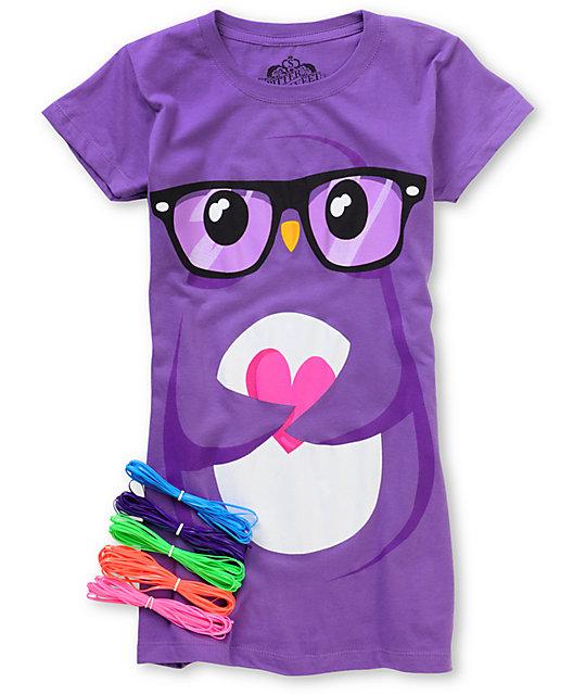 Bitter Sweet Huge Nerd Purple T-Shirt & Friendship Bracelet Kit