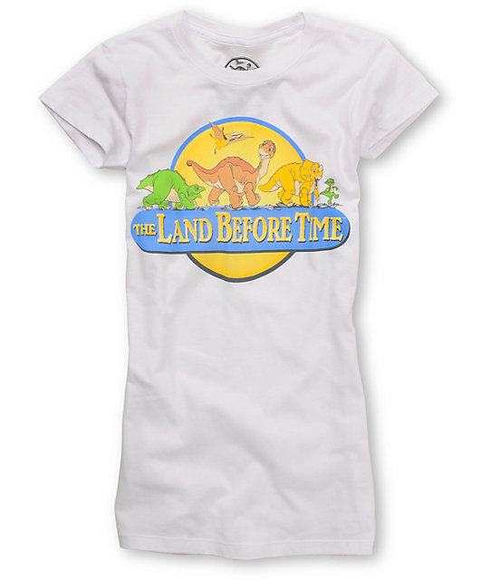 Bitter Sweet Land Before Time Retro Logo White T-Shirt