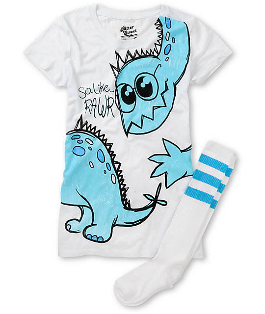 Bitter Sweet Like Rawr Graphic T-Shirt & Socks Pack