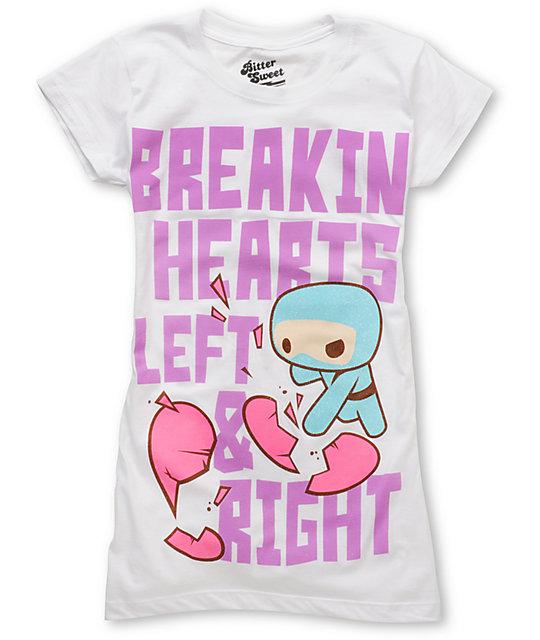 Bitter Sweet Ninja Heartbreaker White T-Shirt