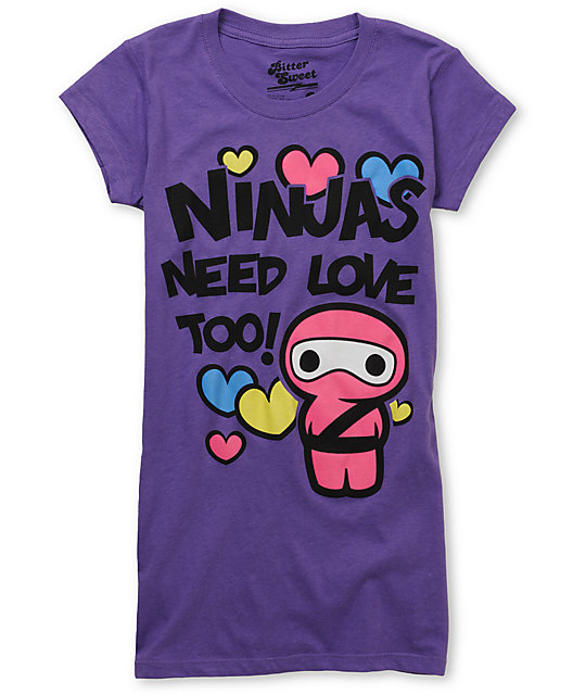 Bitter Sweet Ninja Lovin Purple T-Shirt