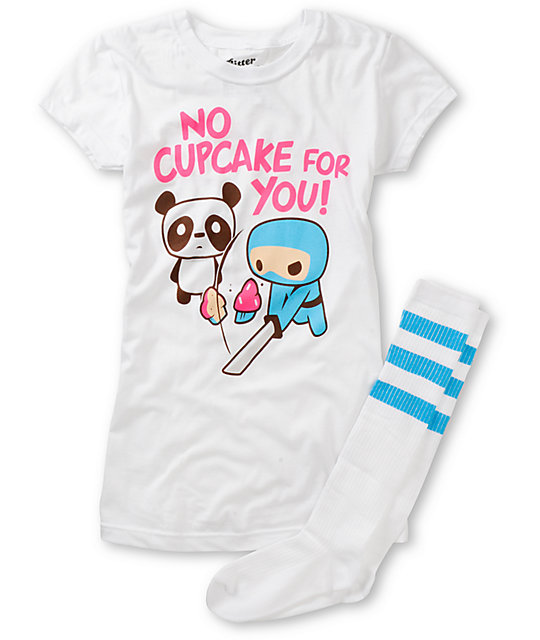 Bitter Sweet No Cupcakes Graphic T-Shirt & Socks Pack