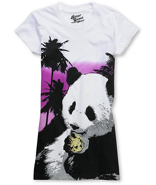 Bitter Sweet Panda Cone Heat Changing White T-Shirt