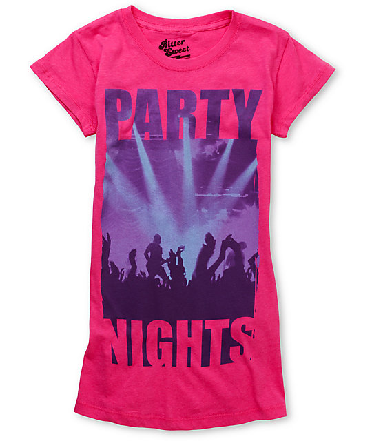 Bitter Sweet Party Nights Pink T-Shirt