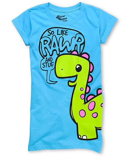 Bitter Sweet Rawr & Stuff Again Turquoise T-Shirt