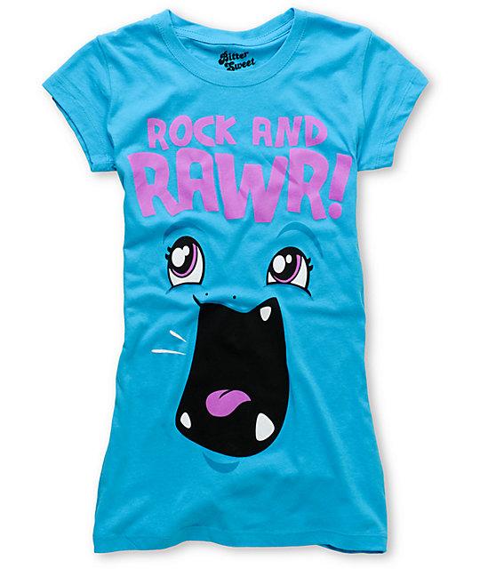 Bitter Sweet Rock & Rawr Turquoise T-Shirt