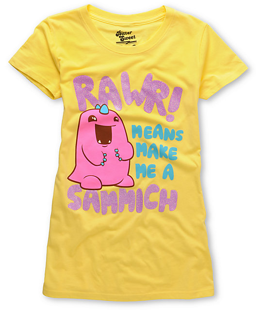 Bitter Sweet Sammich Monster Yellow T-Shirt