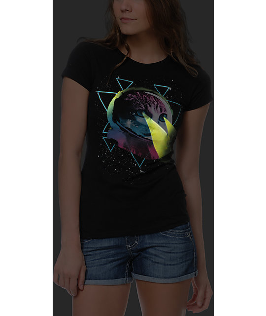 Bitter Sweet Space Laser Kitty Black T-Shirt