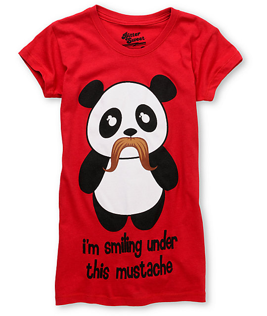 Bitter Sweet Under Mustache Red T-Shirt