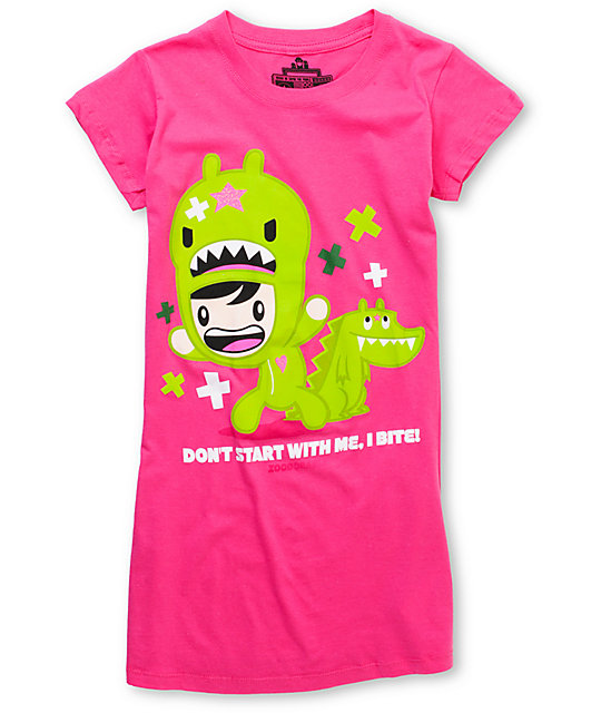 Bitter Sweet x Zoodorable Dont Start With Me Pink T-Shirt