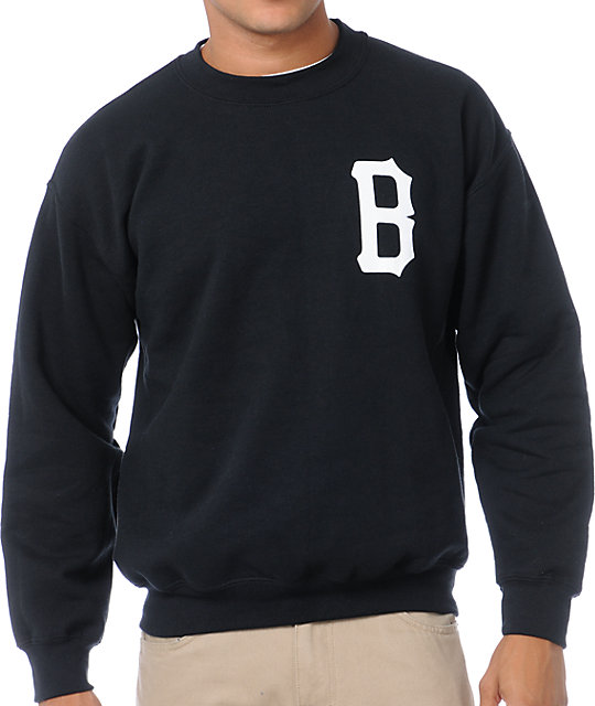 Black Scale B-Logo Crew Neck Sweatshirt