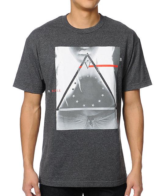 Black Scale Bermuda Triangle Charcoal T-Shirt