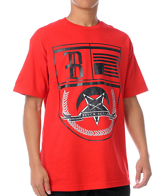 Black Scale Betallion Seal Red T-Shirt