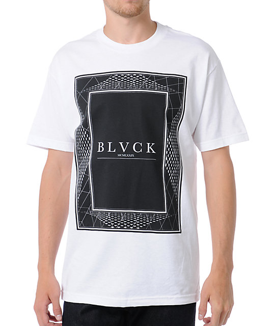 Black Scale Framework White T-Shirt