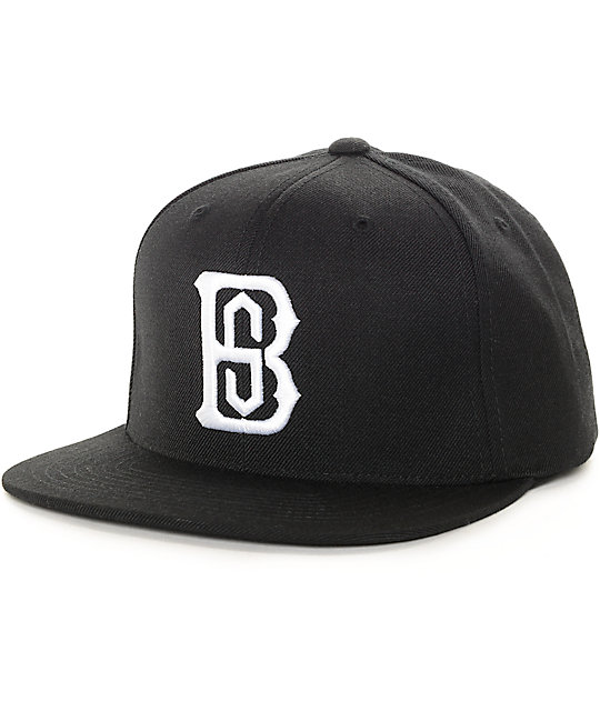 Black Scale Monogrvm Black Snapback Hat