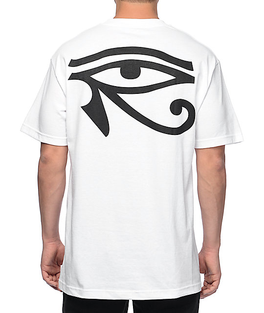 Black Scale Moon Of Ra Logo White T-Shirt