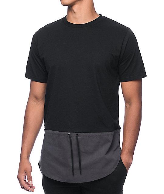 Black Scale Nautical Black & Grey T-Shirt