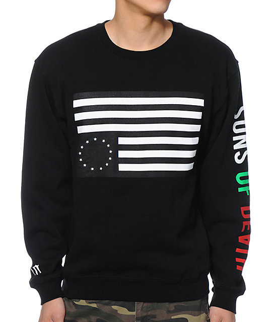 Black Scale Rebel 5150 Black Crew Neck Sweatshirt