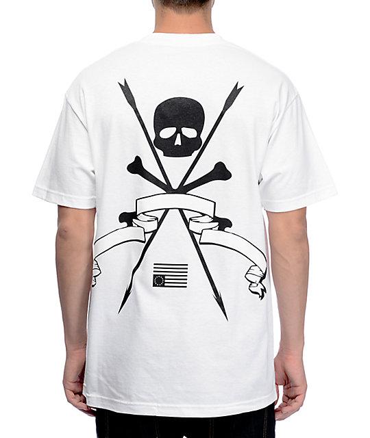 Black Scale Resistance White T-Shirt
