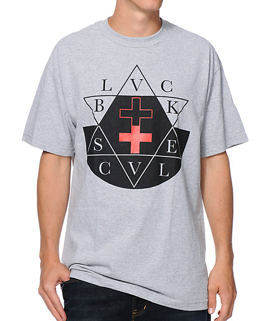 Black Scale Sabbath Grey T-Shirt