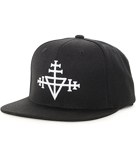 Black Scale Triple Templar Black Snapback Hat