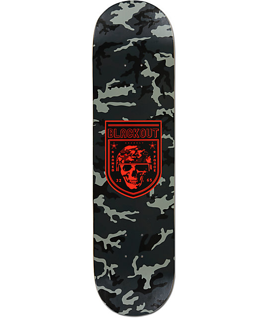 "Blackout Camo 8.25""  Skateboard Deck"