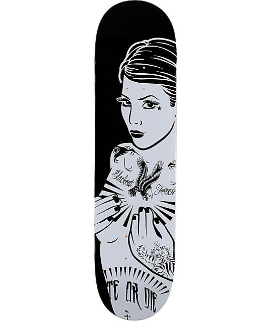 "Blackout Forever Girl 8.0""  Skateboard Deck"