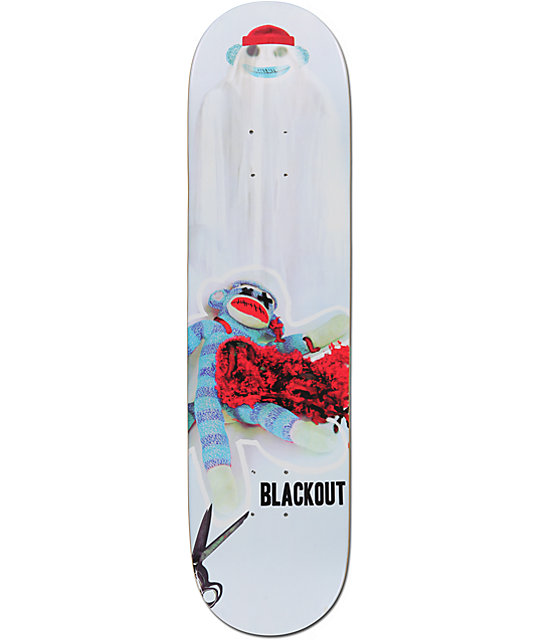 "Blackout New Hat 8.125""  Skateboard Deck"