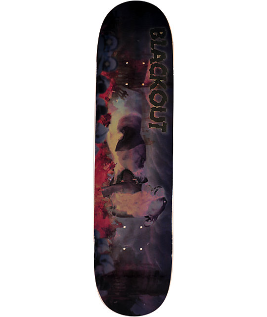 "Blackout Puppy Apolcalypse 7.75""  Skateboard Deck"