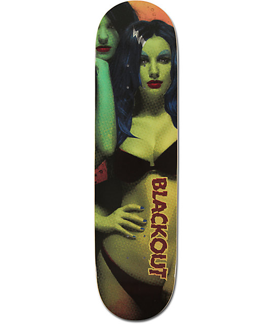 "Blackout Zombie Girl 8.0""  Skateboard Deck"