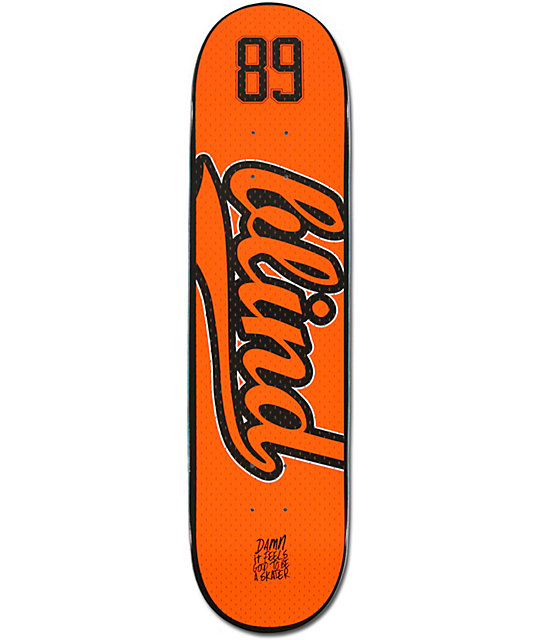 "Blind Athletic Jersey Orange & Black 7.9""  Skateboard Deck"