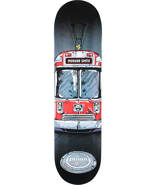 "Blind Morgan Trolley 8.1""  Resin-8 Skateboard Deck"