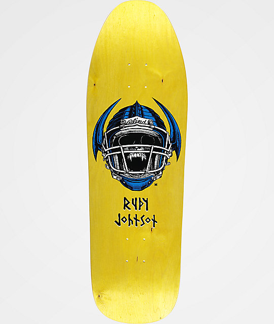 "Blind Rudy Johnson Jock Skull 9.875"" Skateboard Deck"