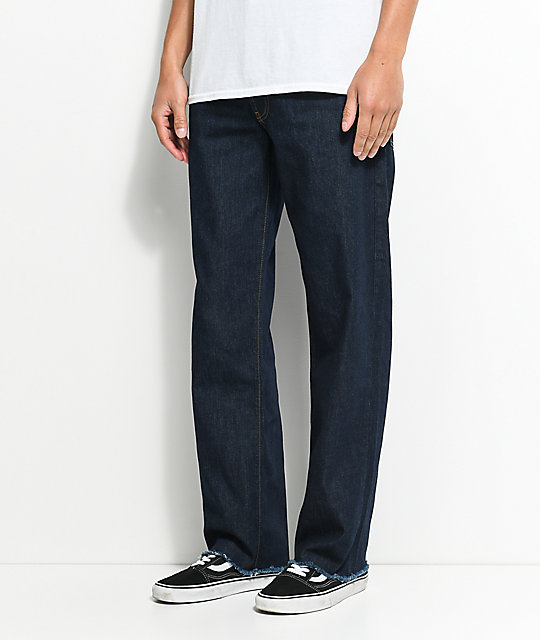 Blind Straight Fit Blue Jeans