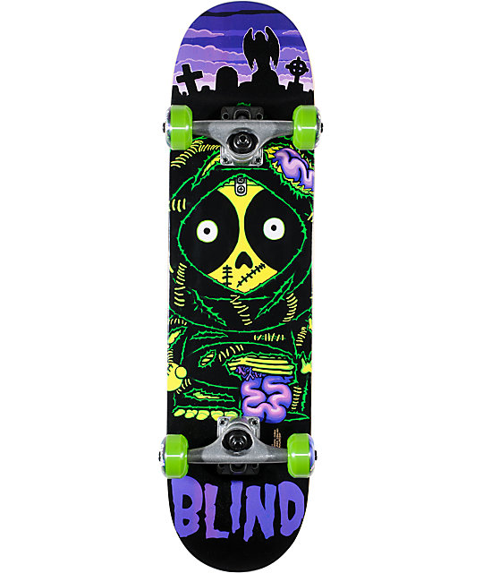 "Blind Zombie Kenny Mid 7.3""  Complete Skateboard"