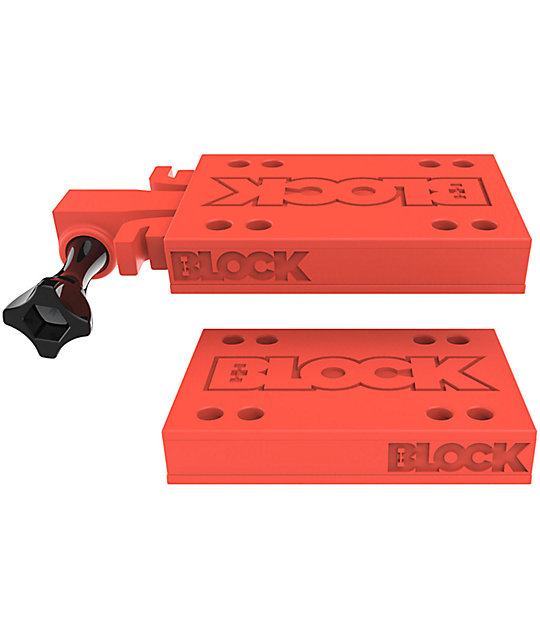 Block Risers Go Block Red Riser Pads