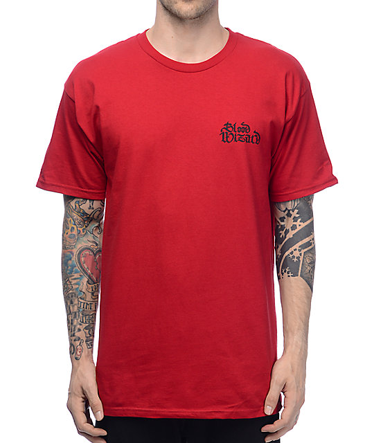 Blood Wizard Script Blood Red T-Shirt