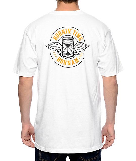 Bohnam Burnin Time White T-Shirt