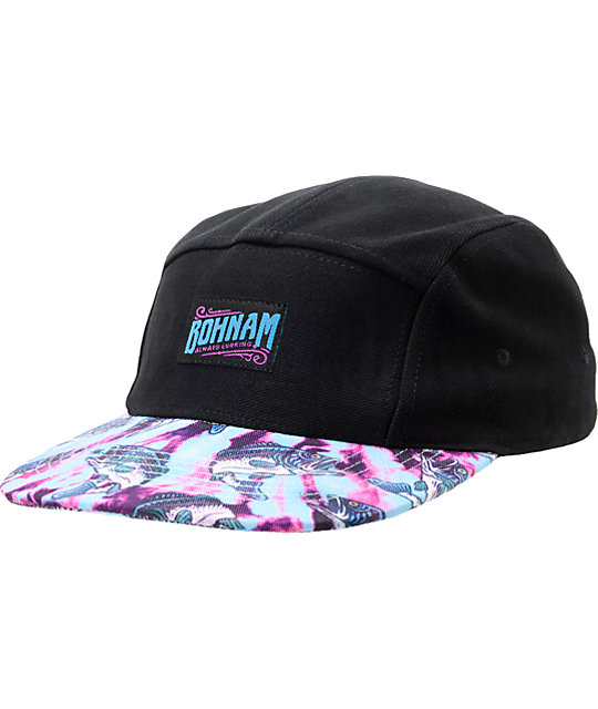Bohnam Dont Trip Black 5 Panel Hat