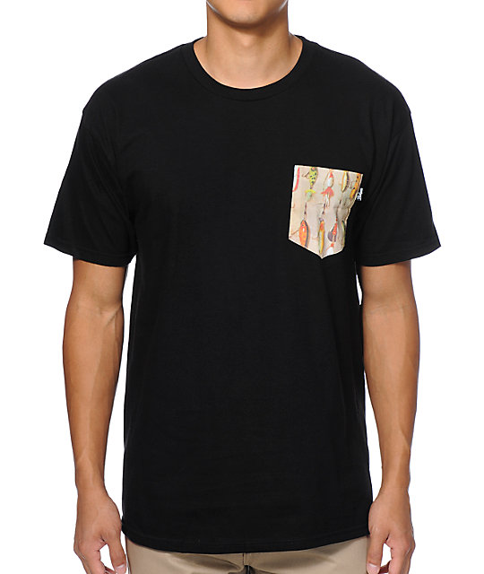 Bohnam Lures Black Pocket T-Shirt