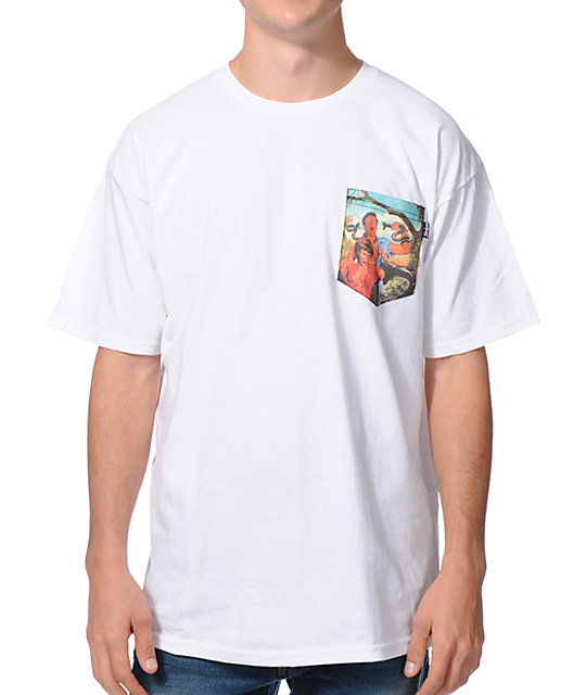 Bohnam Oh Sh*t White Pocket T-Shirt