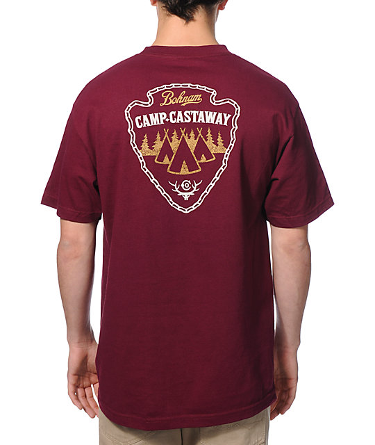 Bohnam Supply Co Burgundy Camp T-Shirt