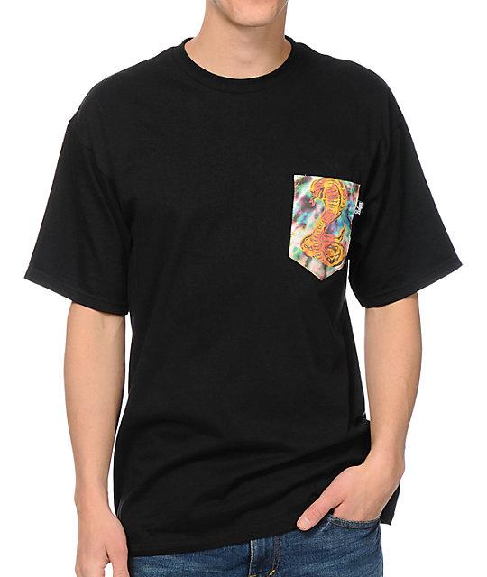 Bohnam Supply Co. Trippy Cobra Black Pocket T-Shirt