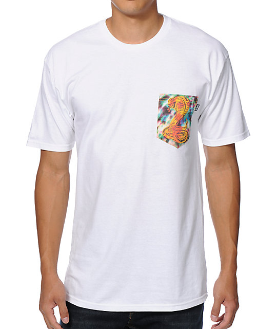 Bohnam Trippy Cobra White Pocket T-Shirt